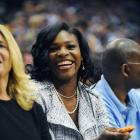 Serena takes in the sights in Orlando at Game 5 of the NBA Finals.