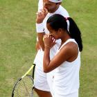 This mixed double team dug deep, but couldn't pull off a win in the first round at Wimbledon.