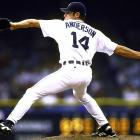<bold>Pitcher, Rice University </bold> Anderson dominated the Southwest Conference during his time at Rice, posting a 1.82 ERA in his final season and setting multiple records. He enjoyed a solid rookie season in 1998, going 5-1 out of the bullpen with a 3.27 ERA and 44 strikeouts in 44 innings (thanks in large part to a triple-digit fastball). But Anderson's career took a tragic turn when he participated in an octopus-throwing contest in an effort to win Detroit Red Wings playoff tickets. Anderson tore a muscle in his right armpit, losing his electric fastball forever. He last appeared in 2005 with the Rockies, when he posted a 12.60 ERA in 12 games.