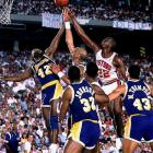 Games 6 and 7 alone made this series an all-timer. First, in Game 6, Isiah Thomas scored 25 third-quarter points on a sprained ankle, but the Lakers overtook the Pistons in the final minute and won 103-102 to stay alive. In Game 7, with the injury limiting Thomas, the Lakers staved off the Pistons' late rally behind James Worthy, who finished with 36 points, 16 rebounds and 10 assists.