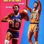 The third Knicks-Lakers Finals matchup in four years ended with a five-game victory for New York, which got the best of the aging Wilt Chamberlain and Jerry West. The Lakers would go another seven years before advancing to the Finals again.