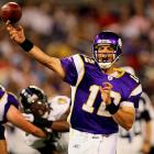 Frerotte replaced Jackson as the Vikings starter after the team got off to an 0-2 start in '08. He was 8-3 as the starter (but finished tied for fourth in the NFL with 15 interceptions). He lost the job after he suffered a back injury late in the season.