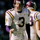 """George led the Vikings to an 8-2 finish (and the divisional playoffs) after Cunningham struggled. He recently told the St. Paul Pioneer Press that he could lead the team to a Super Bowl if he were still playing. """"There's no doubt about it,"""" George said. """"Because of the type of defensive personnel they have, and when you have an Adrian Peterson ... you line him up with a veteran quarterback, who knows where to go with the ball, it's an unstoppable combination."""""""