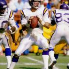 Now known as the Cowboys quarterback coach, Wilson played 10 seasons for the Vikings (1981-91), starting the majority of the team's games in 1988 and 1989. (He also started parts of a number of other seasons). Wilson was 26-22 as a Viking starter.