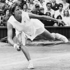Sealing the title on her sixth match point, Margaret Court outlasted Billie Jean King 14-12, 11-9 in a two-hour, 28-minute match. Court would go on to win the Grand Slam that year, making her the second of only three women to accomplish that feat (Maureen Connolly Brinker, Steffi Graf).