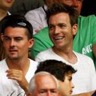 The Scottish actor came to root for his countryman, Andy Murray, at Wimbledon.