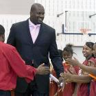 "Shaq is dressed to impress and ready to ""win a ring for the King."""