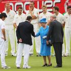 """Looks like someone fell for the old """"yeah, we're all gonna wear blazers when the Queen comes"""" gag."""