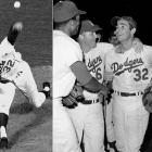 The most dominant pitcher of the '60s already had three no-hitters under his belt. But his fourth and final no-hitter turned out to be the best of his career. The Dodgers parlayed one hit to victory -- which set a record for least amount of hits during a nine-inning game by both teams. He struck out Harvey Kuenn to end the game. Koufax also retired Kuenn for the final out of his 1963 no-hitter.