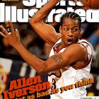 """Iverson entered the NBA with only one tattoo, a bulldog on his left bicep with """"The Answer"""" inscribed above it. The nickname's origins are shaky (a man sued Iverson over creation of the nickname in 2001 but the case was later dismissed) but its meaning a clear reflection of his many talents and dominating performances on the court. He lived up to it from the first year of his career, averaging 23.5 ppg for the Sixers and capturing Rookie of the Year honors."""