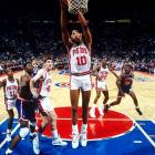 """Rodman was known as much for his strange persona as his prolific rebounding (He averaged 18.7 per game as a member of the Pistons during the 1991-92 season). As a boy growing up in Dallas, Rodman's friends started calling him """"Worm"""" due to how he squirmed while playing pinball."""