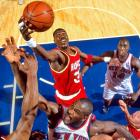 """Basketball sportscaster Dick Vitale dubbed Olajuwon """"The Dream"""" during his freshman year at the University of Houston.  Olajuwon led the Cougars to three Final Fours, and earned 27,000 points, 13,747 rebounds and 3,830 blocks in the NBA -- a dream college career for most players."""