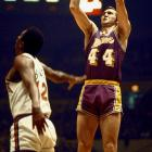 """West owns nearly as many nicknames as career accolades. He is """"Zeke from Cabin Creek"""" for his small-town West Virginia roots, """"The Logo"""" for being the silhouette sandwiched between red and blue on the NBA's emblem, """"Mr. Outside"""" to teammate Elgin Baylor's """"Mr. Inside"""" and most importantly """"Mr. Clutch"""" for his countless late-game heroics."""