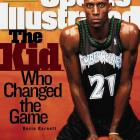 """In 1995, Garnett made the leap from Farragut Academy high school to the NBA and carried his nickname with him. He referred to himself as """"Da Kid"""" his first season, fitting for a 19-year-old rookie. Garnett's game advanced quickly, and soon Da Kid had become the Big Ticket and was earning big dollars (he signed a 6-year, $126 million deal with the Timberwolves in 1997)."""