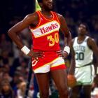 """Defensive great Wayne """"Tree"""" Rollins got his nickname from his large stature.  At 7-1, Rollins was a defensive nightmare for most of his opponents.  With stellar rebounding and shot-blocking abilities, the center might as well have been a tree on the court -- little could get past him."""