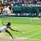 Venus won the first set despite playing with an abdominal injury, but Serena rallied for a 4-6, 6-2, 6-2 victory. With her sixth Grand Slam title, Serena improved to 7-5 overall against Venus.