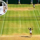 Venus won her fifth title at the All England Club and avenged two earlier losses in Wimbledon finals to Serena. The 28-year-old Venus broke her sister's serve four times en route to a 7-5, 6-4 victory.