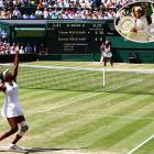 Serena wrapped up a 7-6 (3), 6-2 victory for a third Wimbledon championship and 11th major title overall.  The sisters' father, Richard Williams, used to like to say his youngest daughter would be the better of the two, and the numbers back that up at this point: Serena leads in Grand Slam titles (11-7), in head-to-head matches (11-10), and in all-Williams major finals (6-2).