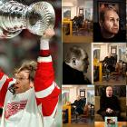 One of the pioneering Russians in the NHL and a standout backliner, Konstantinov, a shot-in-the-dark 11th-round draft pick in 1989, became a Stanley Cup hero in Detroit before tragedy altered his life's plan.  In 1997, he suffered life-threatening head injuries in a limousine crash following a party to celebrate Detroit's first Stanley Cup in 42 years.  He has no memories of the crash, but certainly remembers who he is.  He is, in fact, in better condition than most people who have suffered catastrophic brain trauma.  Konstantinov occasionally attends Red Wings games at Joe Louis Arena, sitting at an empty stall in the dressing room and moving to the bench to watch the warmup.  The players say he never initiates conversation but always responds with a few words.