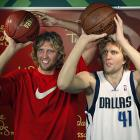 Strangely, wax Dirk has better form than real Dirk.