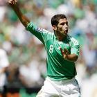 Mexico's Israel Castro celebrates after scoring in the 19th minute. His goal tied the match 1-1.