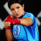 """Gina Carano puts her undefeated record on the line against Cristiane """"Cyborg"""" Santos for the inaugural Strikeforce women's championship Saturday night, 10:30 p.m. on Showtime.  Carano, a former American Gladiators star, is the underdog, but after training with Randy Couture, it should be a great -- and definitely groundbreaking -- fight."""