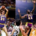 They were worn by Horace Grant, James Worthy (right) and other NBA players, but former Lakers forward and current Timberwolves coach Kurt Rambis (left) is the patron saint of basketball eyewear.