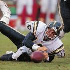 The second pick in the 1998 NFL draft after Peyton Manning, Ryan Leaf got off to a tough start with the Chargers, throwing two TDs and 15 interceptions in his first 10 games. Tirades against the media, fans and San Diego GM Bobby Beathard accumulated as well, but lying about an injury to play golf, and playing flag football while he was supposed to be rehabbing his shoulder and wrist spelled the end of Leaf in San Diego. After his release from the Chargers, Leaf attempted comebacks with the Bucs and Cowboys, but was released quickly by both organizations.