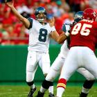 Matt Hasselbeck threw for 216 yards and two touchdowns in the Seahawks victory; despite a rough start in which his first pass was tipped at the line of scrimmage, picked off and returned for a 28-yard touchdown.