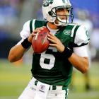 For a while, Sanchez's passer rating in his first start as a New York Jet was beginning to mirror Blutarsky's GPA in Animal House -- 0.0. Just when everyone was ready to call him a bust before the season even began, Sanchez fired a touchdown pass to Leon Washington. Calm down, people, he's a rookie with just 16 starts in college. Give him some time, or at least a quarter.