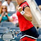 Playing the first match on Day 1 at Arthur Ashe Stadium, the 2005 champion rolled past Viktoriya Kutuzova 6-1, 6-1. The U.S. Open is Clijsters' third tournament back since she ended her two-year retirement.