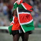 The Kenyans finished first and second with Richard Mateelong taking the silver.