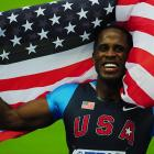 American Dwight Phillips claimed his third long jump title on the 73rd anniversary of Jesse Owens' 1946 Olympics triumph in Berlin. Phillips won with a jump of 28 1/4.