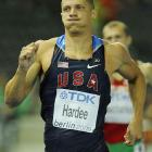 American decathlete Trey Hardee's 48.13 was good for sixth in the event and he stands third overall after five events.