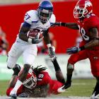There were five touchdowns scored on plays 60 yards or longer in Boise State's shootout with Fresno State Friday night. Fresno's Ryan Matthews had 69-, 68- and 60-yard scoring runs, but that wasn't enough against the Broncos, who got a 60-yard TD run from D.J. Harper and a 67-yard scoring pass from Kellen Moore to Jeremy Avery (pictured). Boise State is at Bowling Green this Saturday,