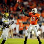 Cool and in control throughout, Jacory Harris completed 20 of 25 passes for 270 yards and three touchdowns, and the Hurricanes snapped a four-game losing streak against Georgia Tech Thursday night. Next up: Virginia Tech, followed by Oklahoma.