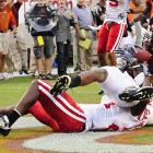 After struggling offensively all game, Tyrod Taylor connected with Dyrell Roberts (pictured) for the go-ahead touchdown in the final minute to topple Nebraska. Tech plays Miami this Saturday. Nebraska gets Louisiana-Lafayette.