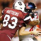 Cliff Matthews and the Gamecocks' defense held Rebels quarterback Jevan Snead and Mississippi to 10 points in the SEC opener for both teams. South Carolina had been 1-31 against teams ranked in the top five.