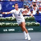 Four-time Open champion Ivan Lendl reaches for a forehand during the1985 tournament. The Czechoslovakia native won that year and the next two.