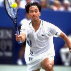 Michael Chang lunges for a forehand during the '96 Open. Chang, who won the 1989 French Open at 17, reached the finals in 1996 before falling to Pete Sampras.