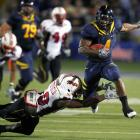 Jahvid Best ran 73 yards for one of his two first-quarter touchdowns as the Golden Bears avenged last season's loss to the Terrapins.