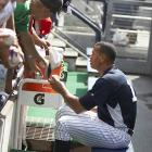 Most of the kids were there to get Kate Hudson's autograph, but they settled for A-Rod.