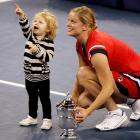 After securing the U.S. Open women's singles silverware, Kim Clijsters debuted her new doubles partner who, alas, came up short.