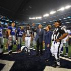 """Former President George W. Bush demonstrated for the Cowboys and Giants and two zebras why he often referred to himself """"the decider."""""""