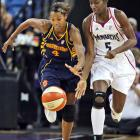 How much of a difference could injured forward Asjha Jones have made for Kiesha Brown (pictured) and the Sun last week? The average margin of defeat in road losses to Seattle (86-74), Phoenix (95-84) and Los Angeles (91-81) was exactly 11 points. Jones' season scoring average is 16.7 points. Her loss is just one in a number adversities that the Sun are trying to overcome. Another is top reserve Erin Phillips, who played just 19 seconds after sitting out the Mercury game with a strained left knee.