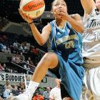 """Last Friday the Lynx sunk a record 16 three-pointers against Sacramento and only beat the Monarchs 100-95 to stay a game ahead of the Silver Stars in the race for the final playoff spot in the West. But then just when they were up, Renee Montgomery (pictured) and the Lynx dropped their next two road games against Washington (81-75) and San Antonio (84-82, 2OT) to move back behind the Silver Stars in the postseason push. One wonders whether they'd be in as precarious a predicament if they hadn't lost Seimone Augustus to a torn left ACL. """"That was devastating,"""" Lynx coach Jennifer Gillom said.<br><br>Next three: 9/5 vs. Seattle; 9/9 vs. Detroit; 9/11 at Los Angeles"""