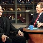 After winning his first World Series in 1996, Jeter joined David Letterman for a taping of The Late Show.