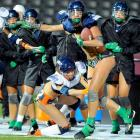 Roll over Lombardi and tell George Halas the news: the gridiron gladiatrixes sneered at 25-degree temps and the frozen tundra of Dick's Sporting Goods Park while doing Lingerie League battle in Commerce City, CO, on Oct. 9. For those keeping score at home, the Mist won, 28-19.