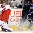 The Columbus Blue Jackets winger was coldly planted on his kisser by the Kings defenseman on Oct. 25 at that hotbed of happy celebrities and colorful photos: the Staples Center in Los Angeles.