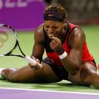Serena pleads with her tiny imaginary doubles partner during a particularly frustrating match vs. sister Venus at the Sony Ericsson Championships in Doha, Qatar on October 28.